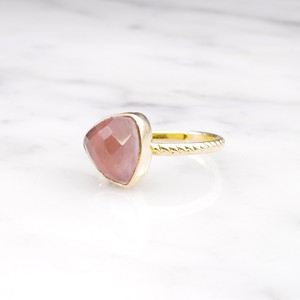 SINGLE TRIANGLE STONE RING GOLD 015