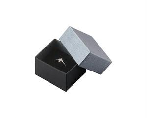 リング・ピアス・ペンダント兼用ミフタ式紙箱Sサイズ エンボス紙グレー 20個入り AR-REP245