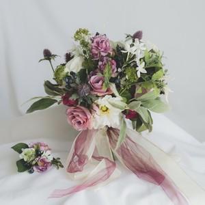 【Rental3泊4日】sweet pink bouquet & boutonniere
