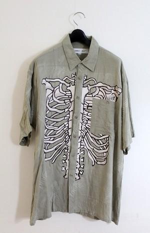 LONELY論理イッテンモノ 昭和CHINPIRA BONEシャツ5 MOSSGREEN L〜XLサイズ相当