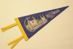 USED Vintage Pennants Hollywood California 01032