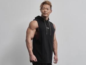 sleeveless hoodie(BLACK)