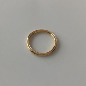 Silver925 basic ring gold 0119