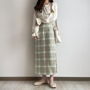 チェックナロースカート[2102-26]