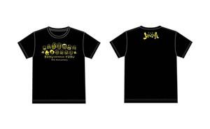 ろく夜5周年Tシャツ【全員集合!】 ボディ黒 プリント黄色