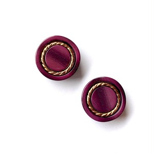 ねじりG線模様ボタン(紫)