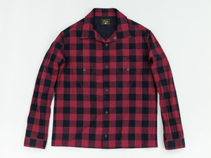 JET BLACK CHECK SHIRTS (RED) / GERUGA