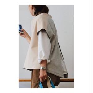 Simva 101-0012-Nat Leather/Wool Tunic Natural