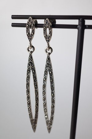 Staring Silver Maquise Earrings