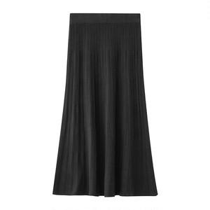 ハイウエスト針抜き編みセミマーメイドスカート LMXQ365