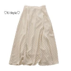 【即日発送】ドット柄スカートE14-18