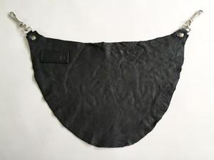 エゾシカ革バムフラップ ブラック
