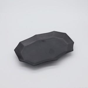 変形長皿S【MAT BLACK】