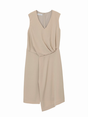 Drape dress  / beige / S16DR05