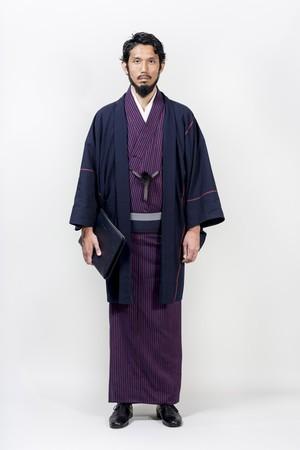 きもの / 片貝木綿 / ストライプ・ダークレッド(With tailoring)