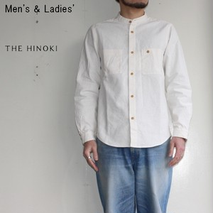 THE HINOKI バンドカラーワークシャツ  Band Collar Work Shirts (NATURAL)