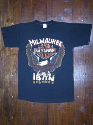 80's sportswear Harley-Davidson 1988 T-Shirts(黒)②