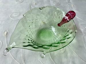 【NEW‼︎】Glass Bowl 雫リーフボウル グリーン