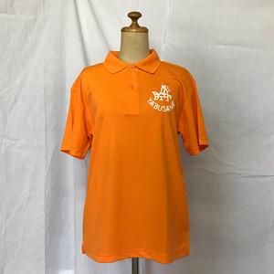 YABUSAME象形ロゴ 半袖ポロシャツ(オレンジ)