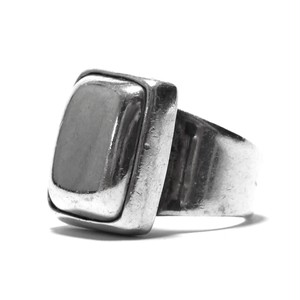 Vintage Sterling Silver Mexican Square Domed Ring