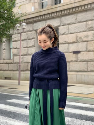 【50%OFF SALE】back tack pullover / navy (即納)