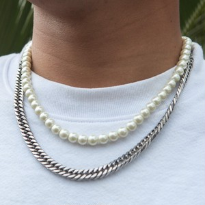 Pearl 2Chain Necklace
