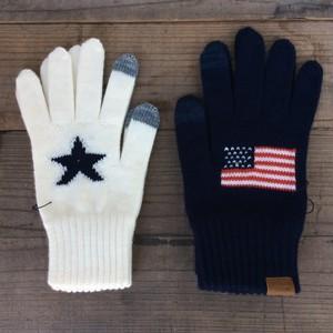 INFIELDER DESIGN(インフィールダーデザイン) STAR&FLAG GLOVE 手袋 ニット 日本製
