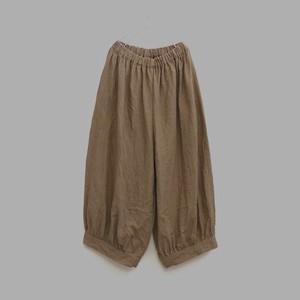ベルギーリネン*裾カフスパンツ