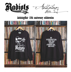 [予約商品] RADIOTS×AnthologyHair  L/S SWEAT / Black...