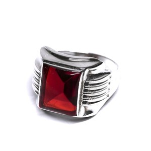 Vintage Ostby Barton Sterling Silver Garnet Ring