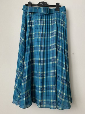 【King Louie / キング ルーイー】ブルーチェック プリーツスカート(240-054)