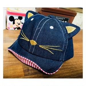 ❤︎キッズ❤︎デニムキッズ猫耳帽子❤︎