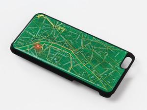 FLASH Paris 回路地図 iPhone6/6s Plus ケース 緑 【東京回路線図ピンズをプレゼント】
