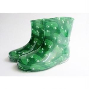 キッズ長靴 カエルのレインシューズ グリーン KB7008-g