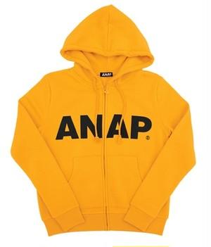 『ANAP』ロゴ裏起毛付きジップアップパーカー