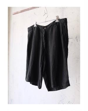 black linen shorts
