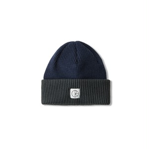POLAR SKATE CO / DOUBLE FOLD MERINO BEANIE -NAVY / GREY-