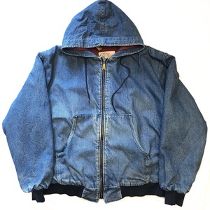 80's~ Ozark Mountain Apparel denim zip up Parker
