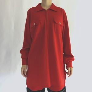 50-60's THE SPINNAKER SHIRT | half zip L/S wool shirts (V0174M)