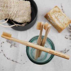 竹歯ブラシ Banboo Toothbrush 【mana.ORGANIC LIVING】