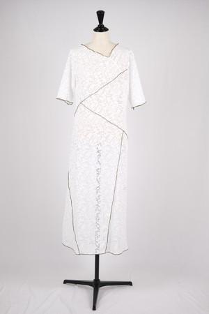 【MURRAL】stretch lace dress - white