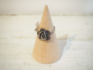 Antique Silver Rose Ring [A-324]
