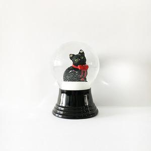 NEW 黒猫 スノードーム PERZY社 M