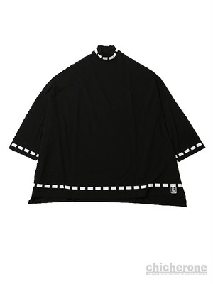 【SLEEPING TABLET】SORBET [ WIDE MOCK NECK HALF SLEEVE ]