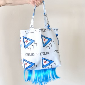 Lactose Intoler-art(ラクトス) 1off blue hair Tote bag