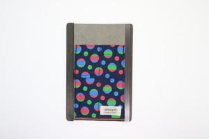アモルフ【外側紺】ロールペンケース 展 クラリーノ紺 ✕  畳縁 水玉カラフル②