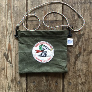 Vintage Tent Cloth Sacoche with patch, Bronco