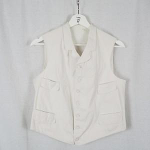 1900's Corduroy White Vest