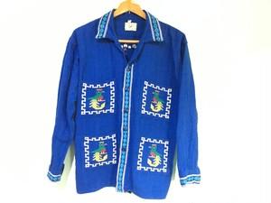 グアテマラ製 刺繍 シャツ Lサイズ /キューバシャツ OLD ヒッピー ネイティブ