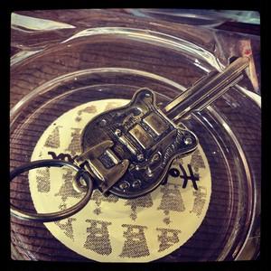 キーヘッドカバー 「GUITAR」真鍮製